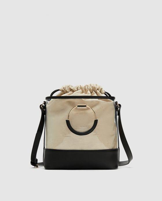 ea781e9523b Afbeelding 2 van VINYL SHOPPER MET TASJE AAN DE BINNENKANT van Zara ...