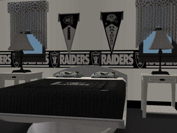 Modthesims Oakland Raiders Bedroom Requested Oakland