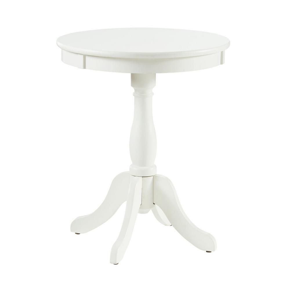 Powell Company Round White Table 929 711 White End Tables Chair