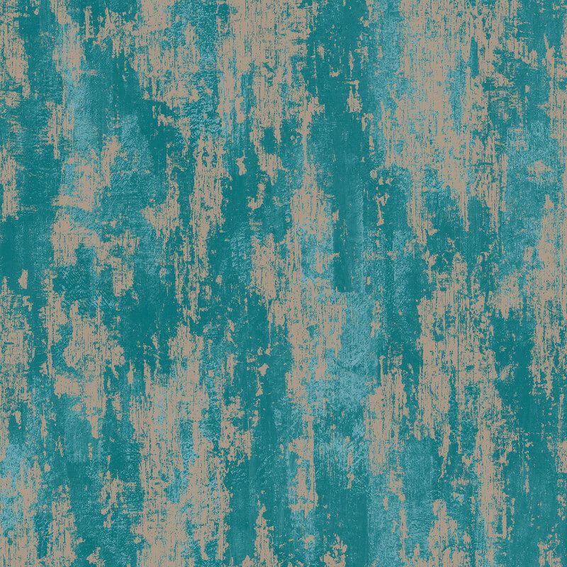 Graham & Brown Industrial Texture Turquoise Metallic