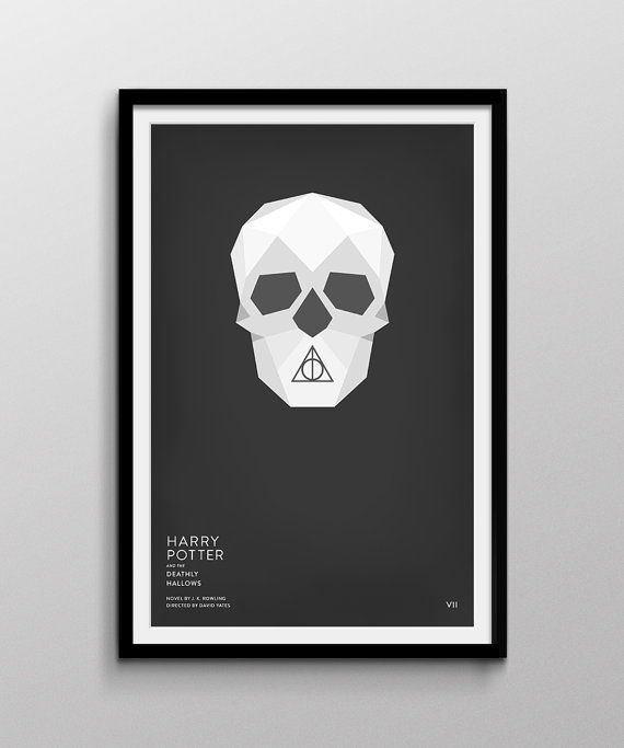 Harry Potter and the Deathly Hallows Inspired Print by Pixology, $20.00