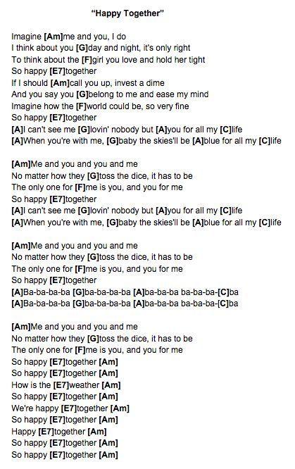 Happy Together (The Turtles) Ukulele Chords | Musical | Pinterest ...