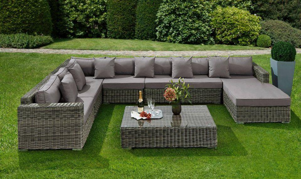 Baidani Loungeset Perfection 25 Tlg Ecklounge Tisch 120x70cm