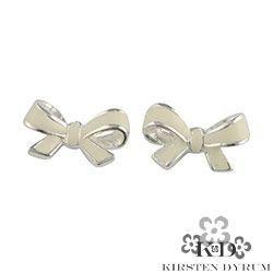 Kirsten dyrum bow studs silver - 11335E