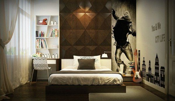 awesome teen boy bedroom ideas urban style interior floating bed ...
