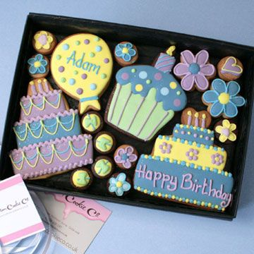 Personalised Happy Birthday cookie gift box Sugar Spice and