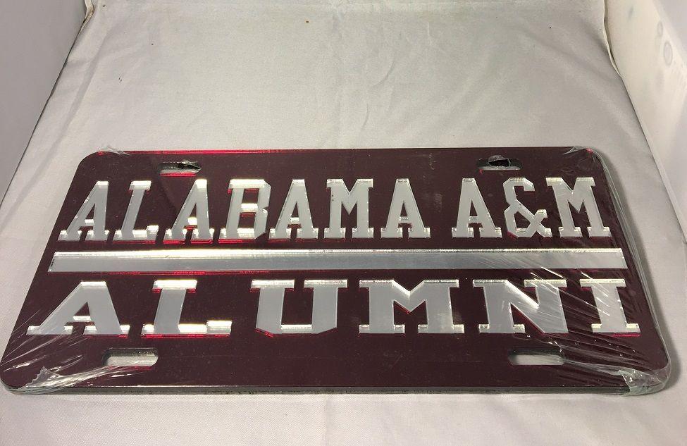 Alabama A&M University Alumni License Plate | Greek store, License ...