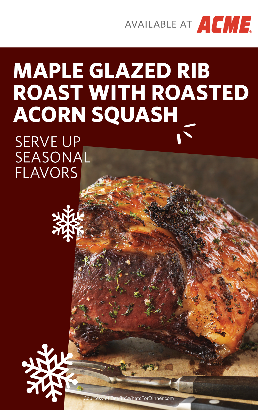 Serve Up Seasonal Flavors With This Maple Glazed Rib Roast With