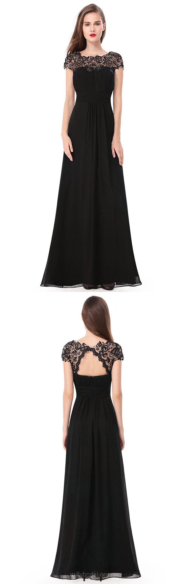 Black prom dresses long prom dresses lace prom dresses a