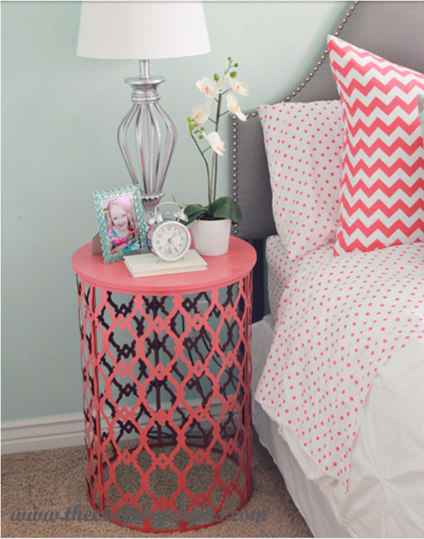 Teen Girl Bedroom Diy Projects Spray Painting Night Stand And Sprays