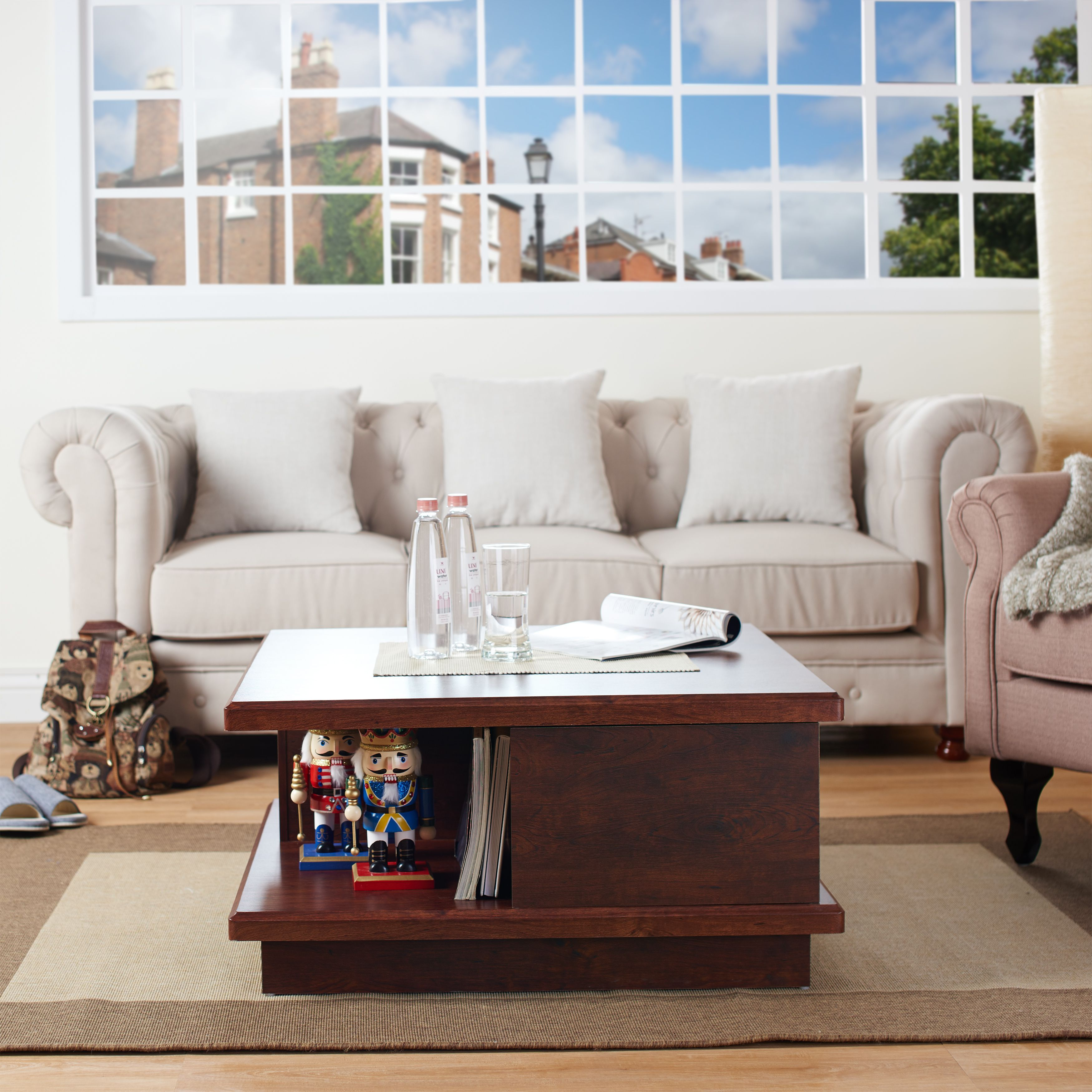 Liven up your decor options with this open and spacious coffee table ...