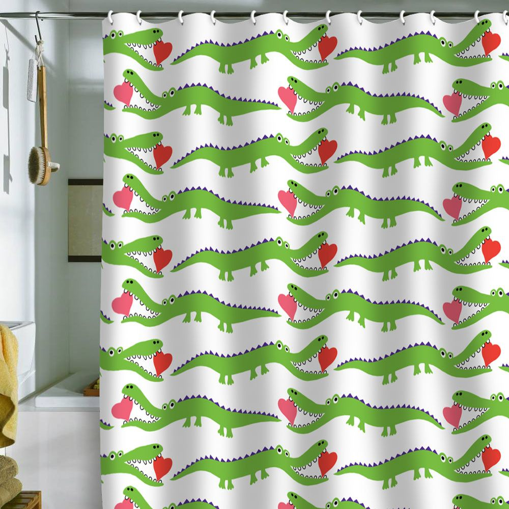 Andi Bird Alligator Love Shower Curtain Shower Curtain Art