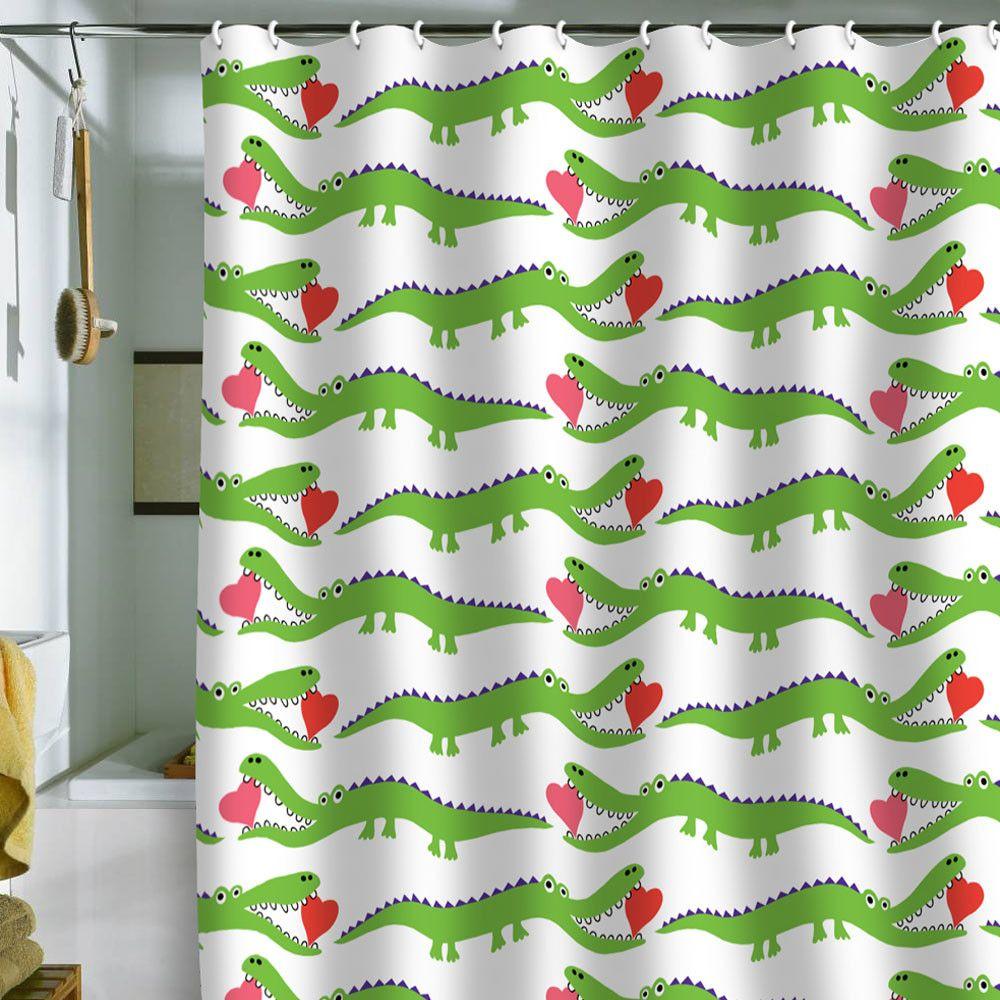 Andi Bird Alligator Love Shower Curtain Shower Curtain Art