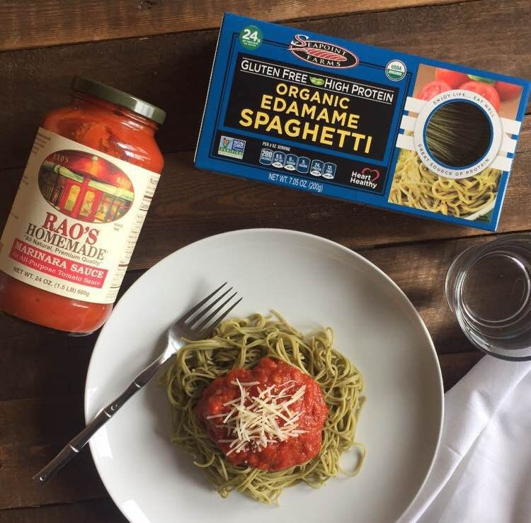 Seapoint Farms Organic Edamame Spaghetti Paired With Rao S