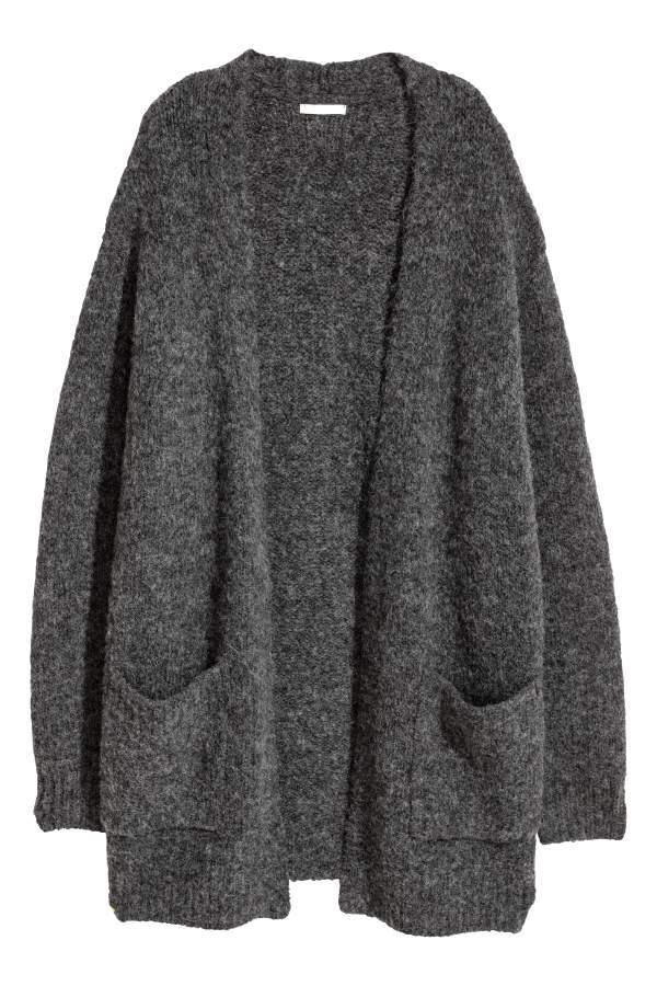 d0eebc81c4033 H M H   M - Knit Cardigan - Dark gray - Women