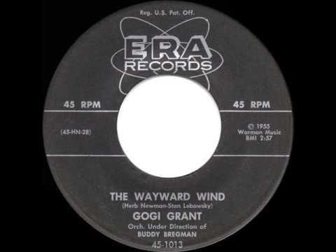 Gogi Grant The Wayward Wind 1956 Photo Sheet Music