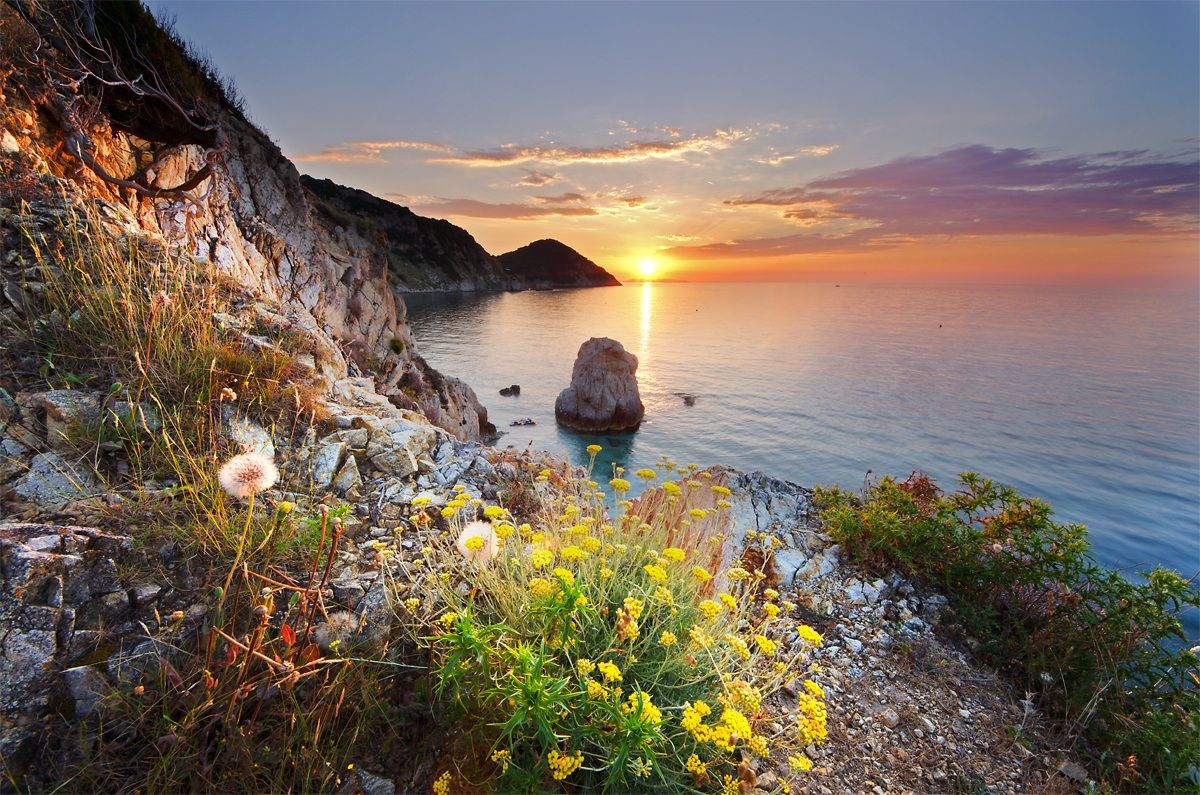 last ray of sunshine ... Elba Island, Italy ~ by Francesco Gentili