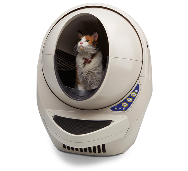 The LitterRobot. A self cleaning system that uses your