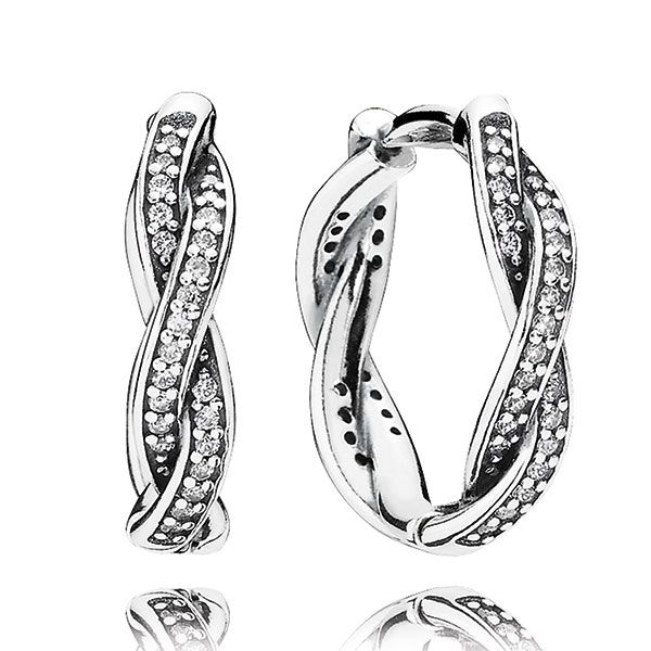 ec52f4663 PANDORA Twist of Fate Earrings | PANDORA | Pandora earrings, Pandora ...