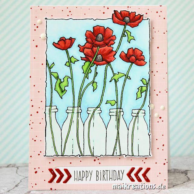 Blumige Geburtstagskarten Karten Zazzle De