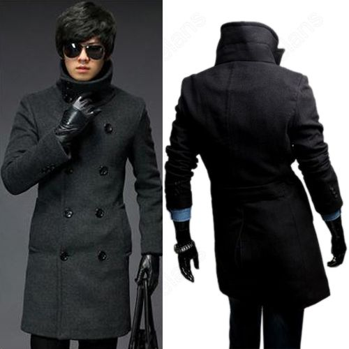 Discount China china wholesale Turndown Stand Collar Men's Double-breasted Jackets Slim Fit OutCoat Trench Long Coat [33001] - US$50.61 : DealsChic