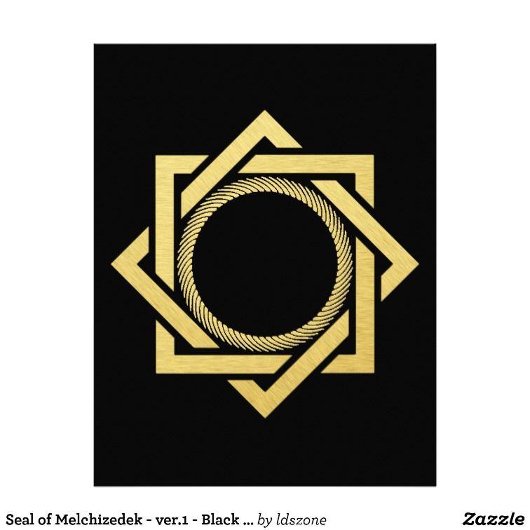 Seal Of Melchizedek Ver1 Black Back Stained Glass Pinterest