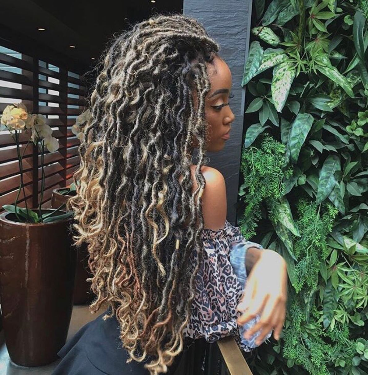 Follow Xoka For More Awesome Pins Faux Locs Hairstyles Curly Hair Styles Naturally Braids For Black Hair