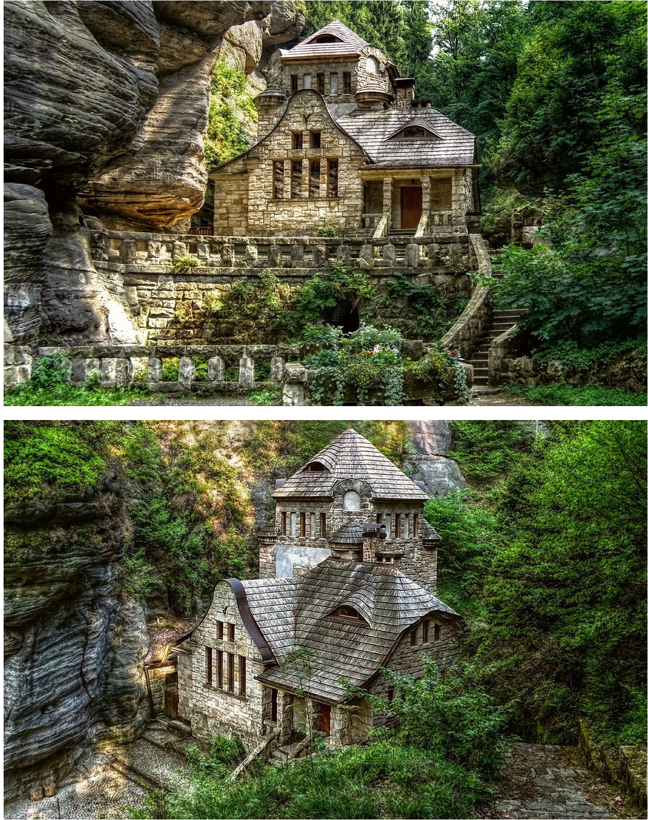 Cliffside House Ideas That Will Bring Out Your Inner Creativity - Creative redeisgn turning stone cottage modern country home england