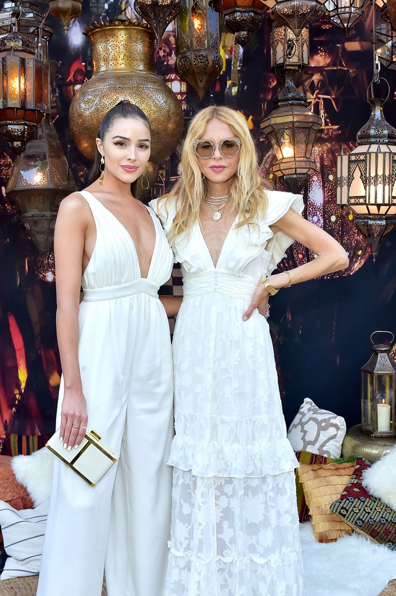 All The Best Looks From Our 2018 Zoeasis Party Fashion Pinterest Jolie Clothing Joie Midi Dress Nude L Always Flawless Olivia Culpo Opted For A Chic Crepe Rachel Zoe Jumpsuitolivia Is Wearing Anouk Jumpsuit 595