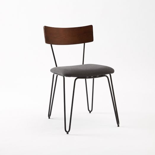 Hairpin Leg Dining Chair Upholstered West Elm 498 For 2
