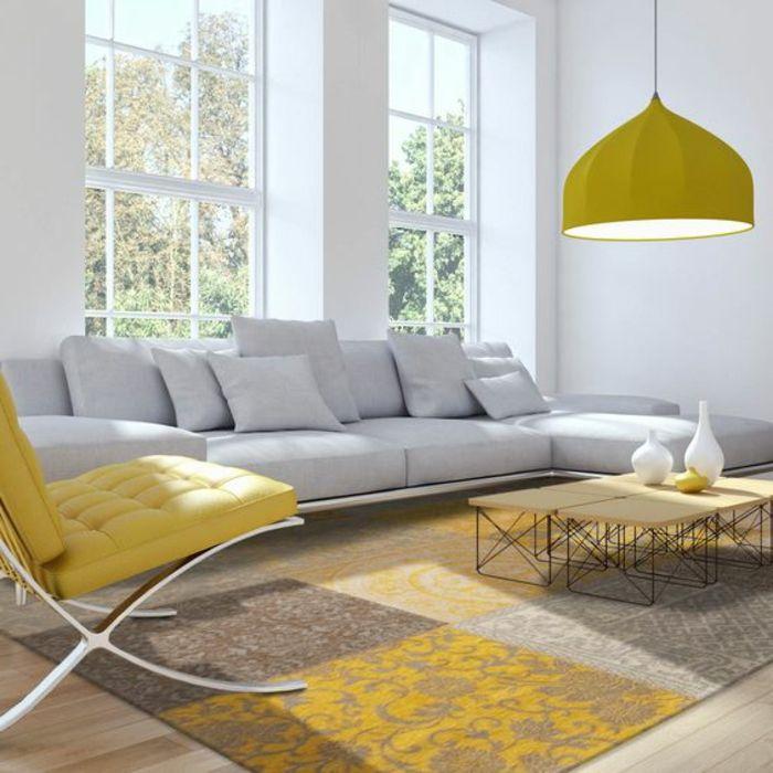 ▷ 1001+ variantes de salon gris et jaune pour vous inspirer à l