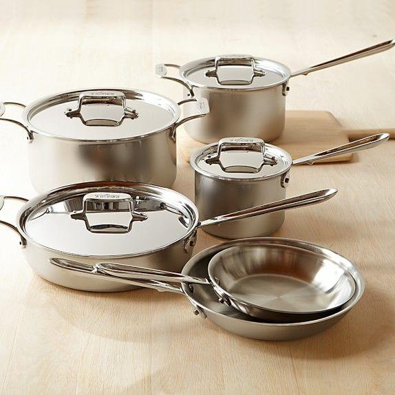 All Clad D5 Stainless Steel 10 Piece Cookware Set Cookware Set