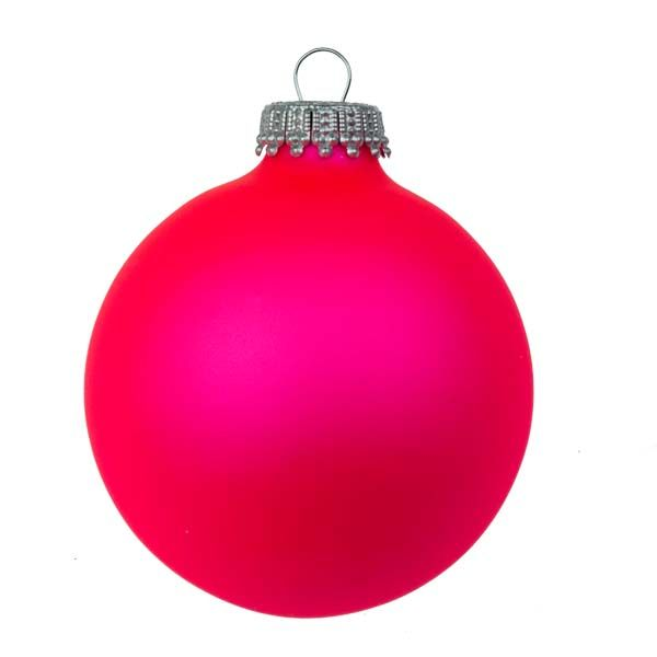 Neon Pink Christmas Bauble