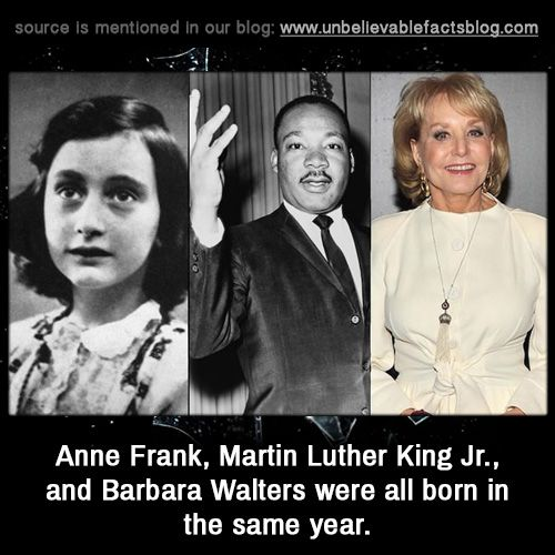 Anne Frank Martin Luther King Jr And Barbara Walters Were All