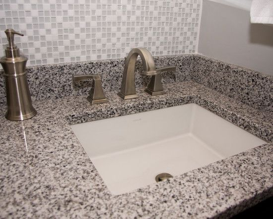 Enjoyable Snow Ice Bathroom Pepper Granite Vanity Countertop With Home Interior And Landscaping Eliaenasavecom