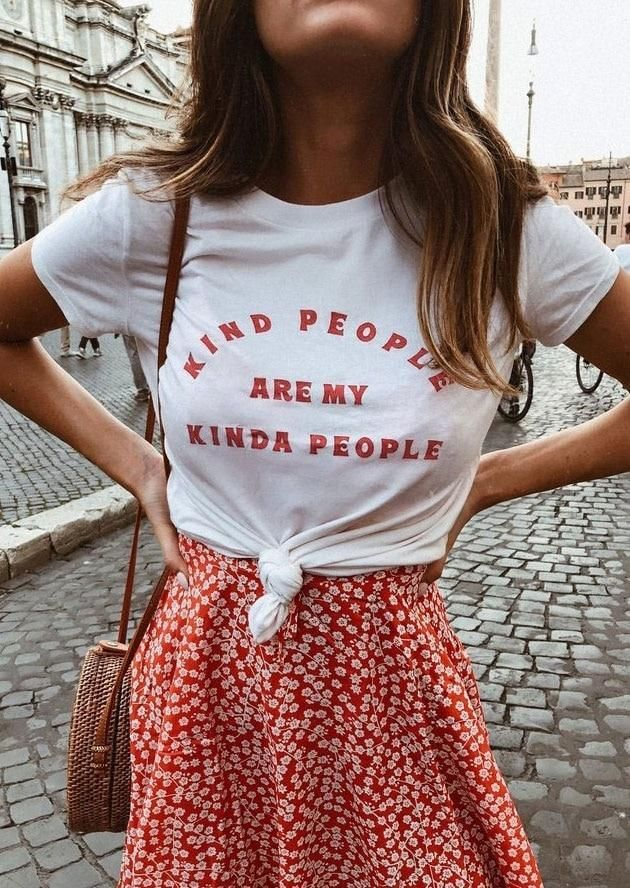 Kind People Are My Kinda People Shirt (Multiple Colors) Did you know? Your purchase gives back! $3 is donated to the\u00a0charity of\u00a0your choice\u00a0with purchase, just put the charity of your choice in the box at the top of your cart page!\u00a0 (click here to learn more) Photos By: Girl in Hat: @ahappyblur Girl with Coffee Cup: @coffeeovertejas Girl in Forest: @culliflower.child Feeling the good vibes? So are we! This item is a part of our\u00a0Purely Positive Collection. What's the\u00a #goodcoffee