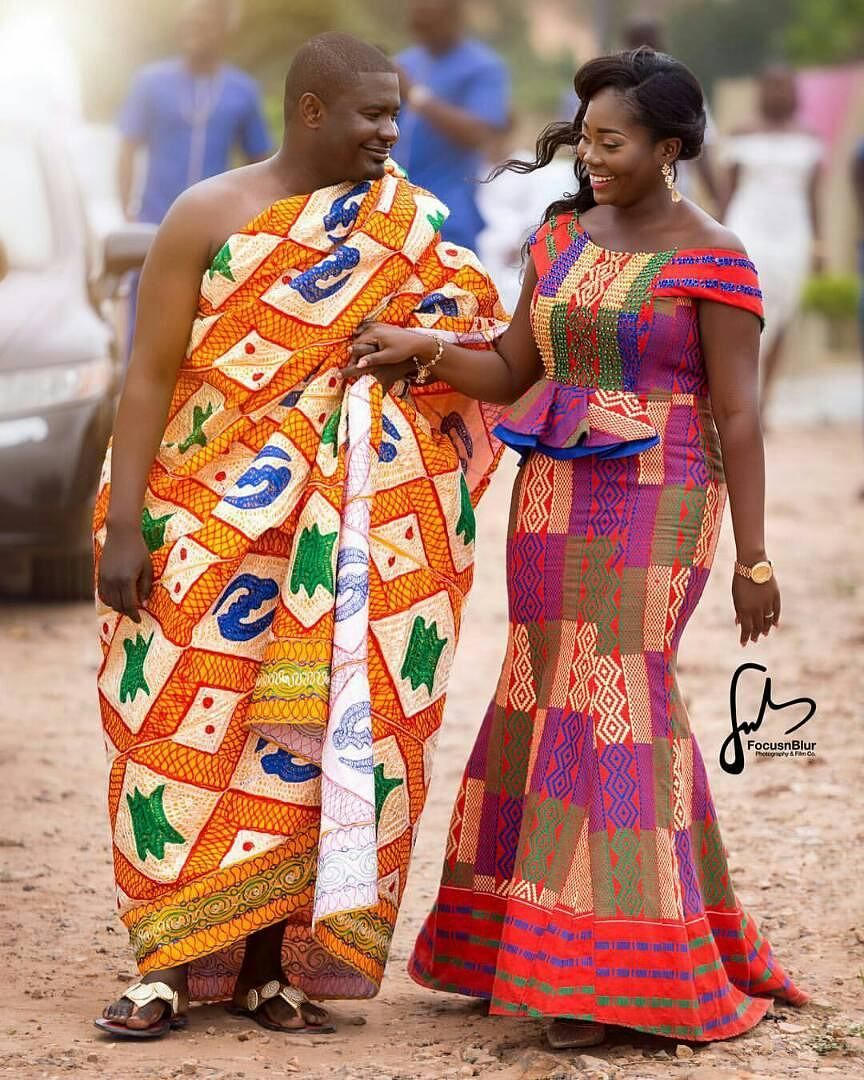 Akan wedding ghana kent style pinterest pagne for Couture de kita pagne