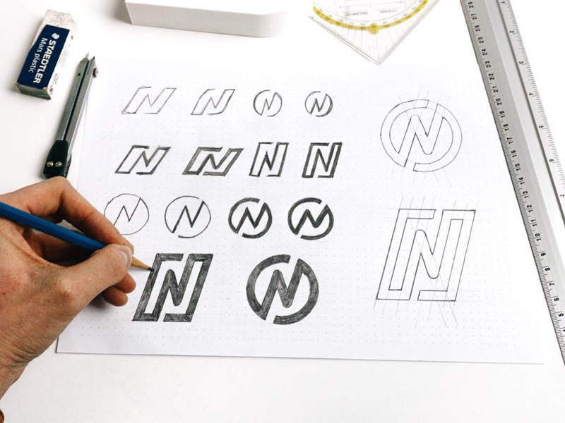 Letter N Sketches Thiết Kế Logo Thiết Kế