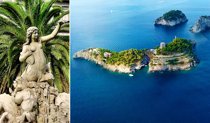 5 places where mermaids have been seen in Italy - Campania, Naples, Li Galli Islands