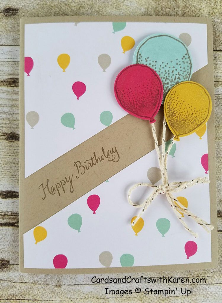 Birthday Card Featuring Balloon Celebration Bundle From Stampin Up