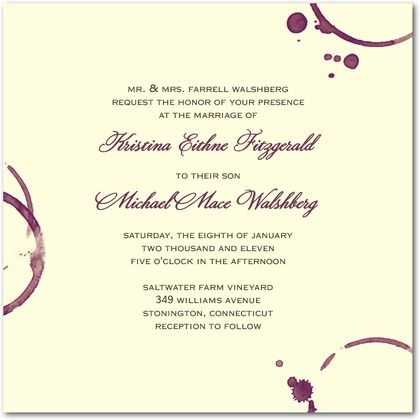 Wedding Stationery Wednesday Winery Wedding Invitations Wedding