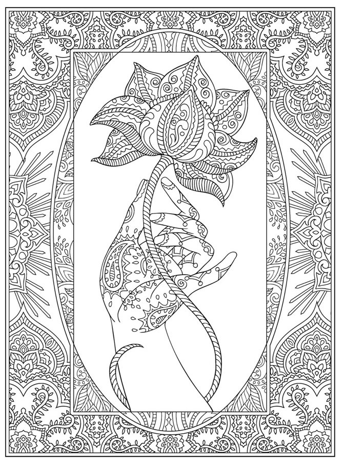 Welcome to Dover Publications - Mendhi Design | Download - Coloring ...