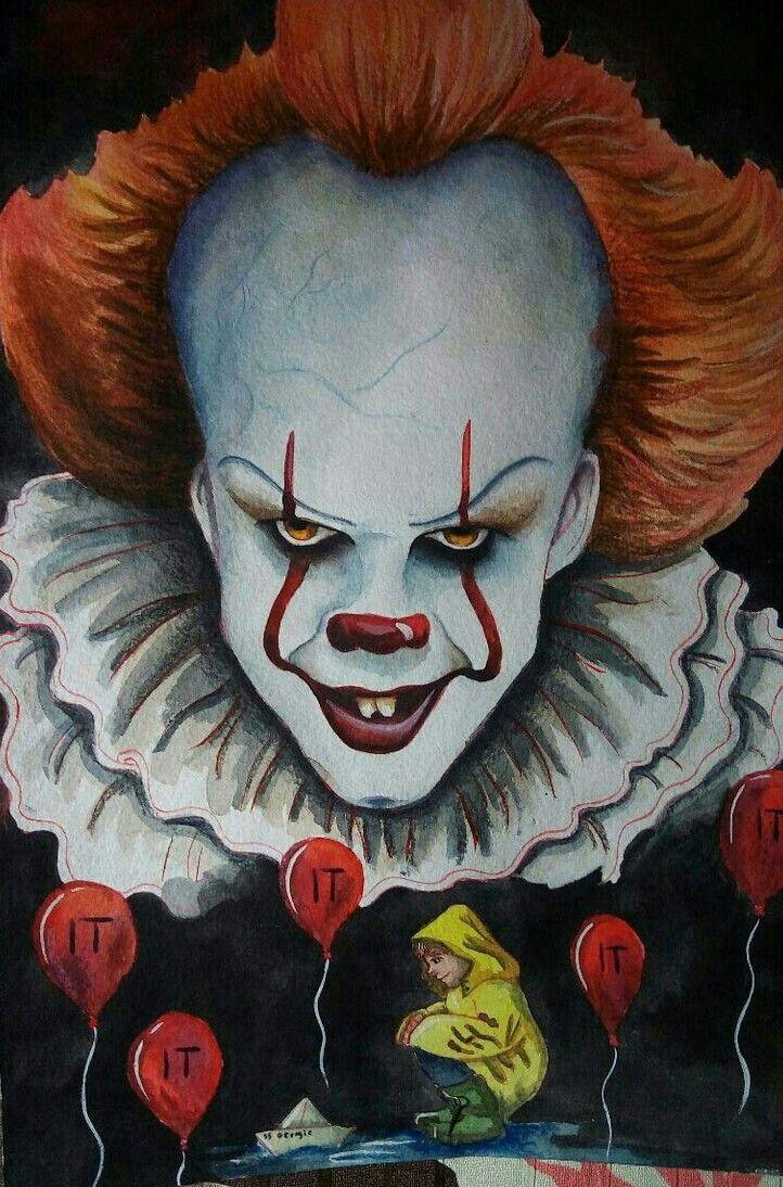 Pennywise And Georgie Art épouvante Clown Effrayant Et