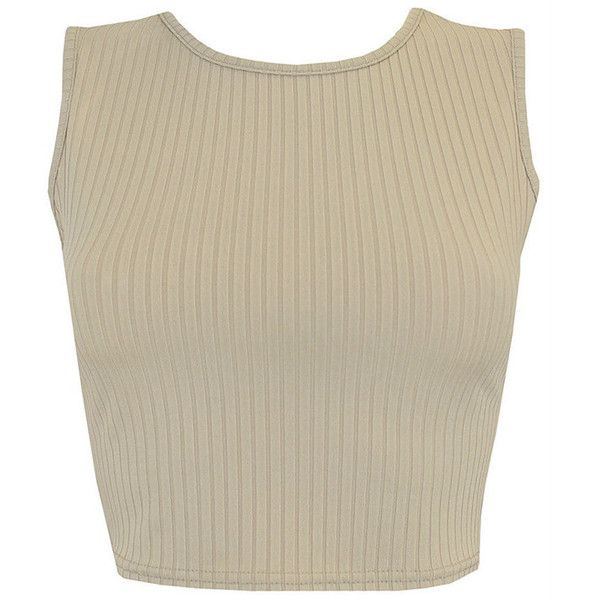acae509375218 Ribbed Crop Top (more colours) ( 53) ❤ liked on Polyvore featuring tops