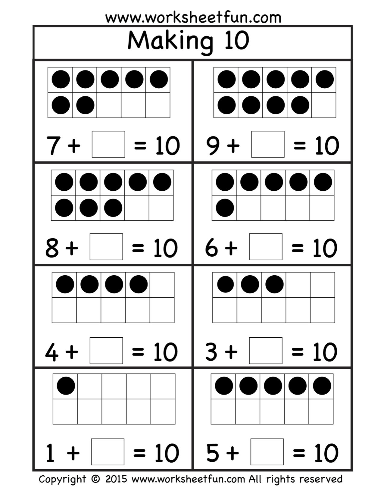 Free Making Ten Worksheet | 1.oszt | Pinterest