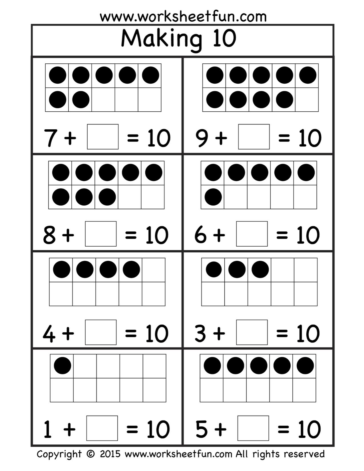 Worksheets Making Ten Worksheets free making ten worksheet 1 oszt pinterest worksheets student worksheet