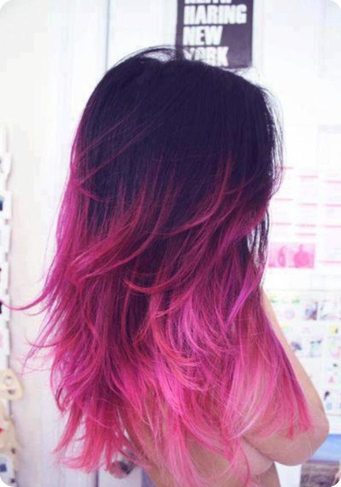 Stylish Stars Hairstyles & Black Ombre Hair Color︱Hair Trend for Summer 2013-black to pink