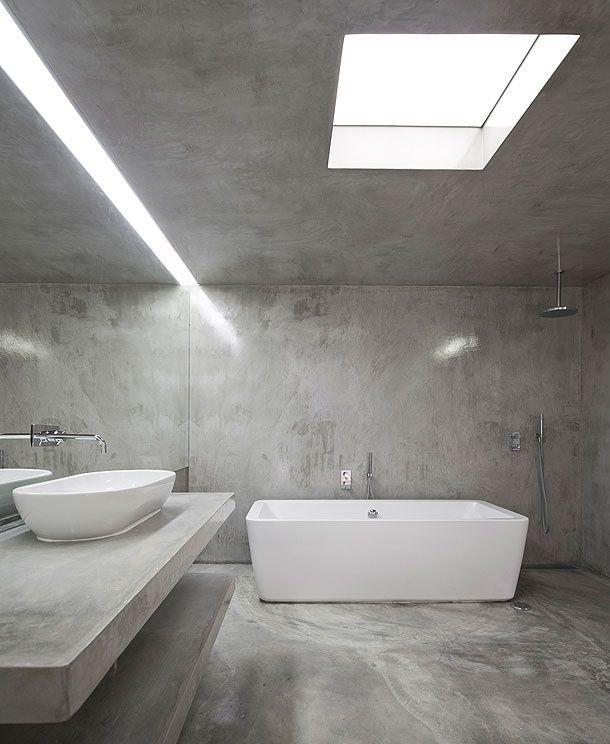 23 amazing concrete bathroom designs bathroom ideas pinterest badezimmer bad und baden. Black Bedroom Furniture Sets. Home Design Ideas