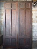 Antique Craftsman Style Pocket French Doors C 1910 Fir Architectural Salvage Antique Doors For Sale Architectural Salvage Antique Doors