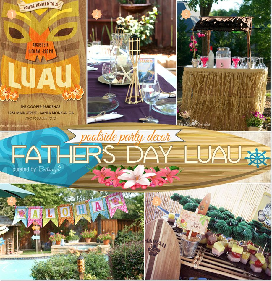 how to throw a father u0027s day luau party by the pool luau party